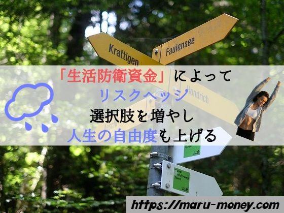 【挿絵】「生活防衛資金」によって-リスクヘッジ-選択肢を増やし-人生の自由度も上げる